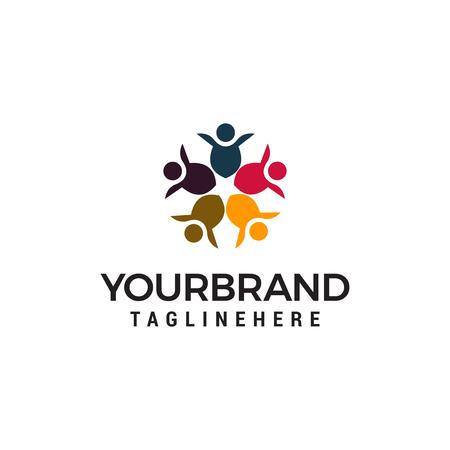 community people alliance logo design concept template vector Logo