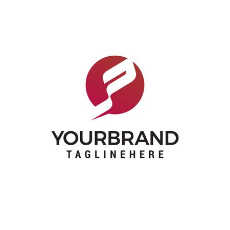 lettre P tech logo design concept template vecteur
