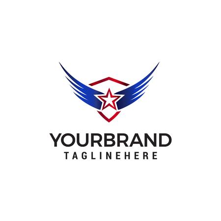 star wing logo design concept template vector
