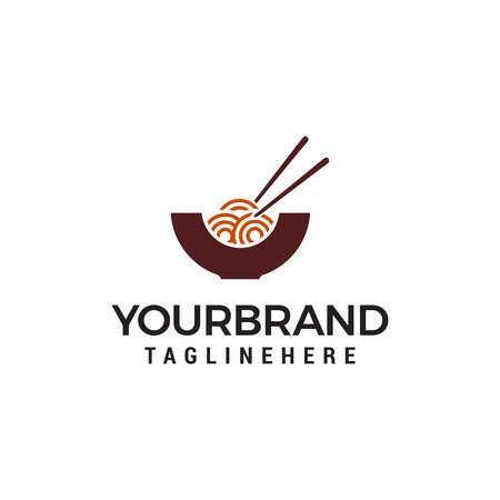 noodles logo design concept template vector