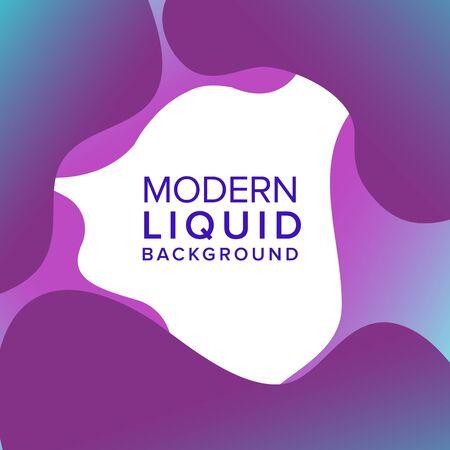 Liquid color background design. Fluid gradient shapes composition. Frame design banner and poster. Eps10 vector.