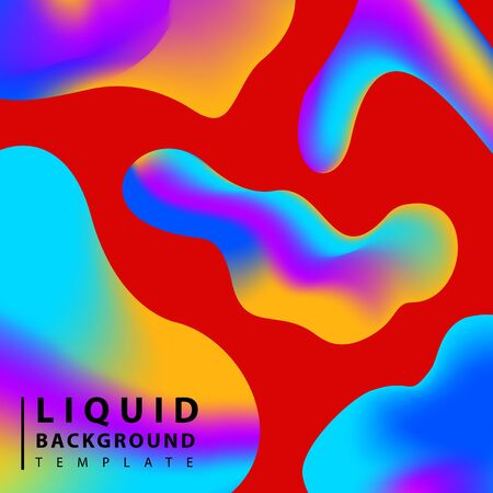 Fluid abstract background. Colorful liquid shape composition geometric background. Trendy gradient shapes composition.