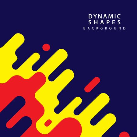 Modern style abstraction with composition made of various rounded shapes with geometrical element . Vector illustration.