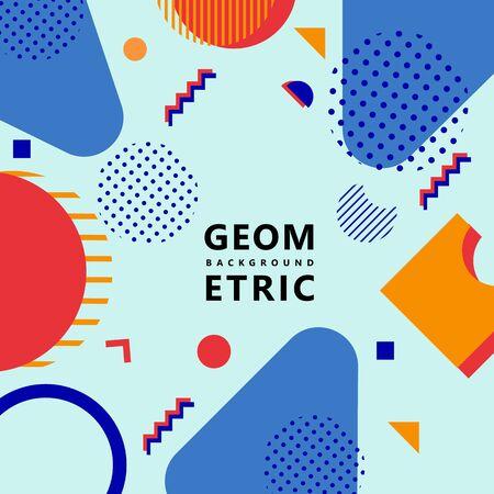 trendy geometric shapes memphis hipster background vector Foto de archivo - 127908511