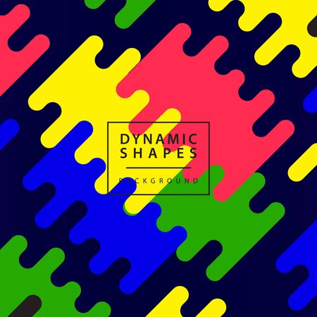 Modern Abstract dynamic shapes rounded lines background with Colorful image. Vector illustration.