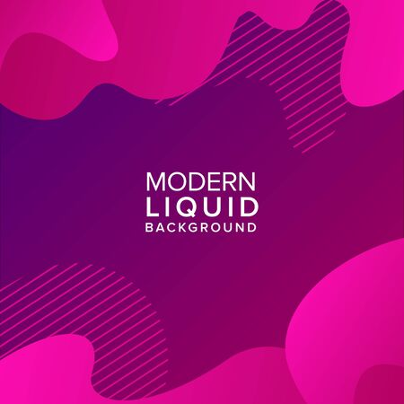Color gradient background design. Abstract geometric background with liquid shapes.