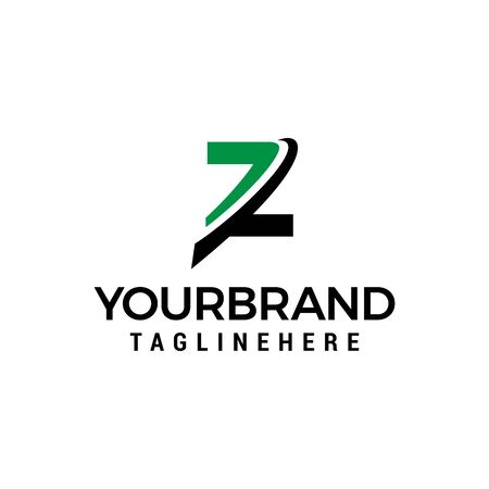 initial letter Z logo with slice element graphic vector template Ilustracja
