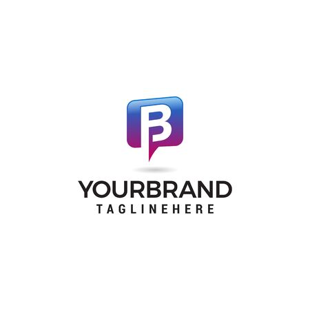 letter B chat logo abstract, vector alphabet. Communication icon vector, social media icon Stock Vector - 129609516