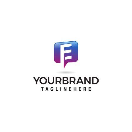 letter E chat logo abstract, vector alphabet. Communication icon vector, social media icon Stock Vector - 129609533