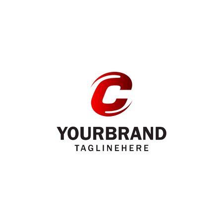 letter C spin rotation logo design concept template Illusztráció