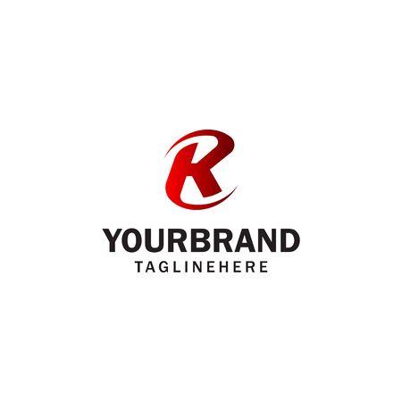 letter K spin rotation logo design concept template