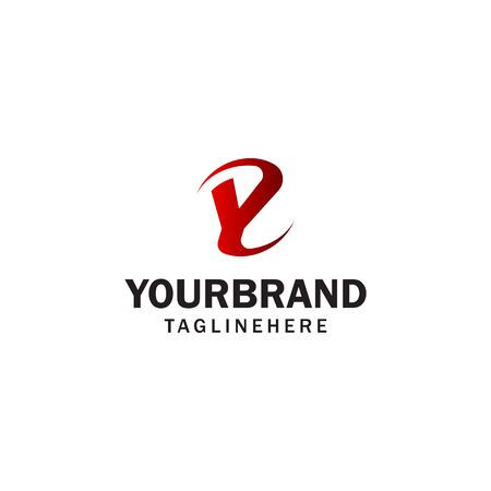 letter Y spin rotation logo design concept template
