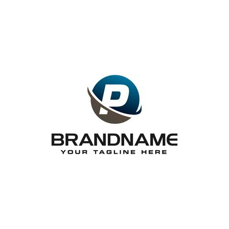 initial P technology swoosh company letter logo design vector icon template Reklamní fotografie - 129612585