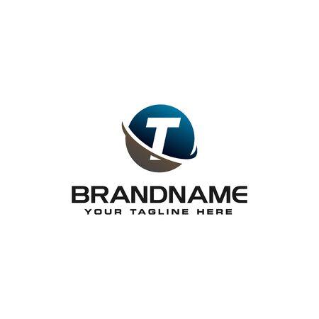 initial T technology swoosh company letter logo design vector icon template Reklamní fotografie - 129612643