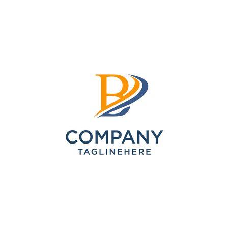 letter B luxury swoosh corporate logo design concept template Ilustrace