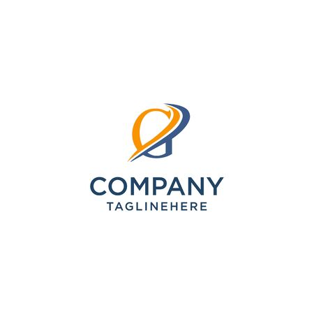 letter G luxury swoosh corporate logo design concept template