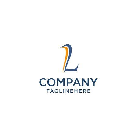 letter L luxury swoosh corporate logo design concept template