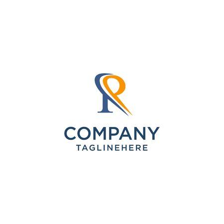 letter R luxury swoosh corporate logo design concept template