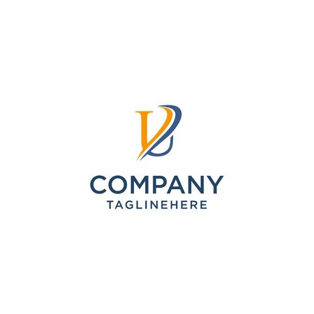 letter U luxury swoosh corporate logo design concept template Ilustrace