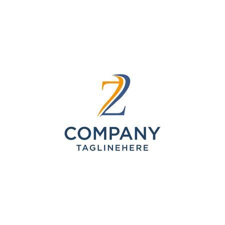 letter Z luxury swoosh corporate logo design concept template