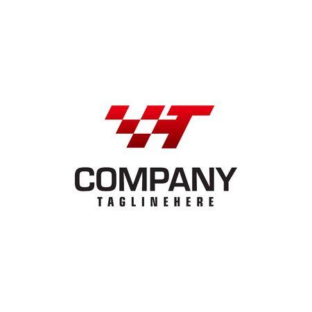 Auto speed letter T logo template vector illustration Reklamní fotografie - 129616467