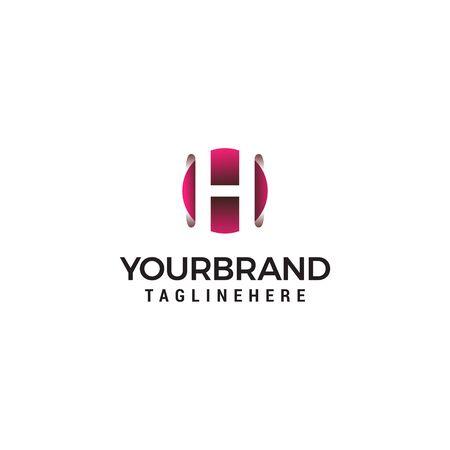 letter H in circle shape logo design concept template Reklamní fotografie - 129616479
