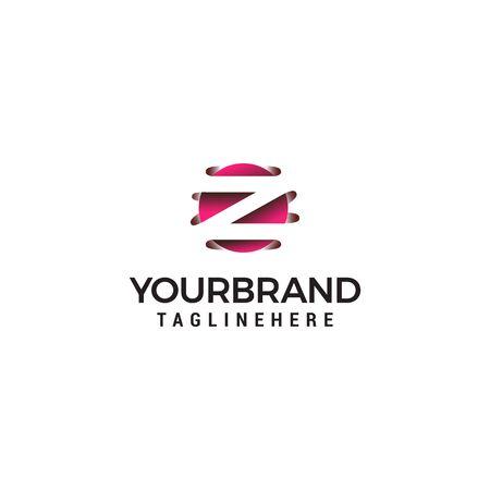 letter Z in circle shape logo design concept template