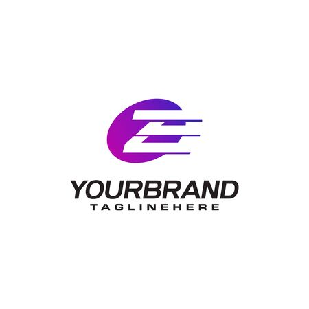 Abstract letter Z logo with fast speed lines fast speed moving delivery concept design Illustration