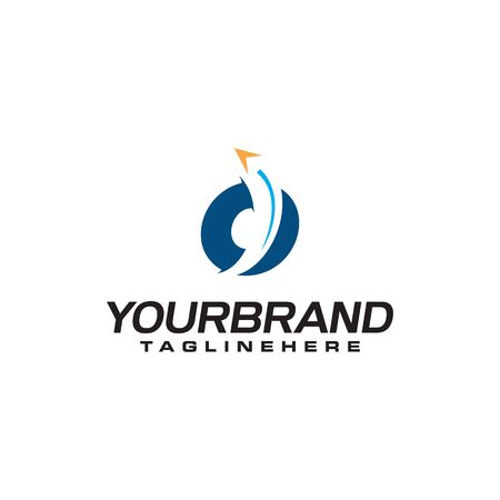 initial letter O logo with arrow shape, letter B travel business logo template
