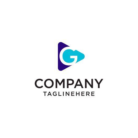 Play Media letter G logo design concept template Foto de archivo - 129708091