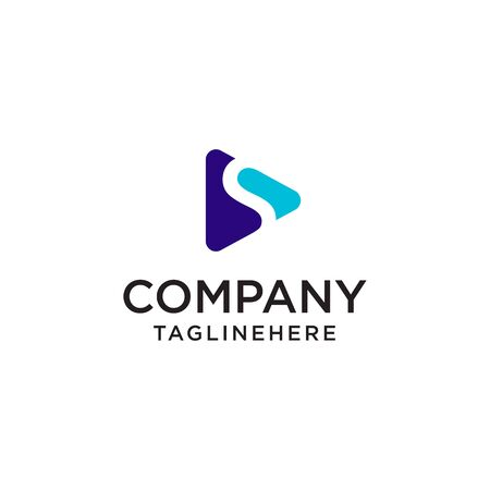 Speel Media letter S logo ontwerpsjabloon concept