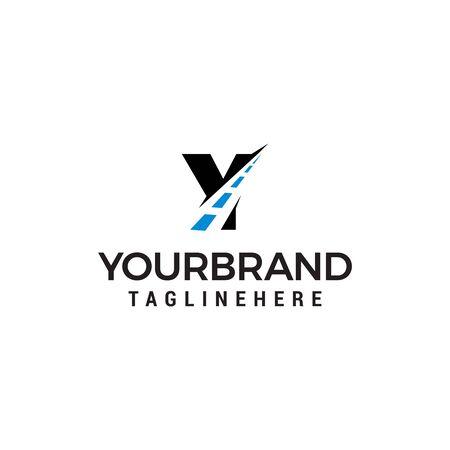 Y letter road way logo creative design template Banco de Imagens - 129708280