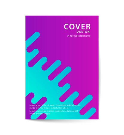 Covers with Flat & Dynamic Design. Geometric shapes Dynamic wavy form with irregular parallel rounded lines in motion. Applicable for Banners, Placards, Posters, Flyers and Banner Designs. Ilustrace