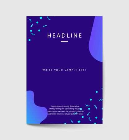 Dynamic colorful poster set with fluid shapes, bright gradients, modern concept. minimal background. ideal for , cover, billboard, brochure, print.