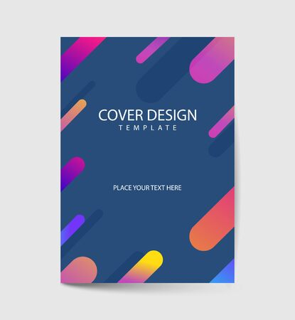 covers design with geometric rounded lines pattern. Cool colorful backgrounds. You can use for Banners, Placards, Posters, Flyers. Vector illustration Ilustrace