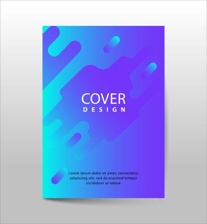 Covers with Flat & Dynamic Design. Geometric shapes Dynamic wavy form with irregular parallel rounded lines in motion. Applicable for Banners, Placards, Posters, Flyers and Banner Designs. Ilustração