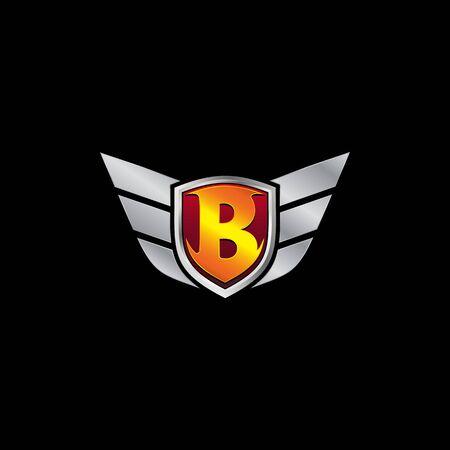 Auto Guard Letter B Icon  design concept template