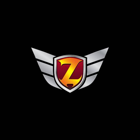 Auto Guard Letter Z Icon  design concept template Ilustrace