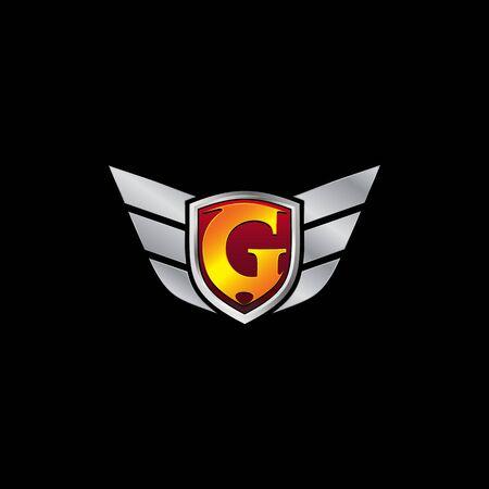 Auto Guard Letter G Icon  design concept template Ilustrace