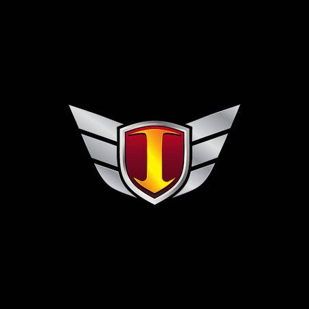 Auto Guard Letter I Icon  design concept template
