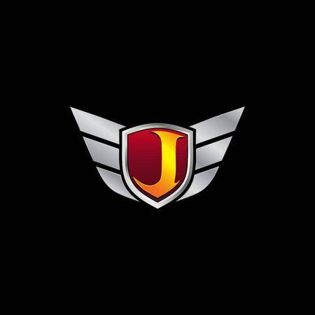 Auto Guard Letter J Icon  design concept template Ilustrace
