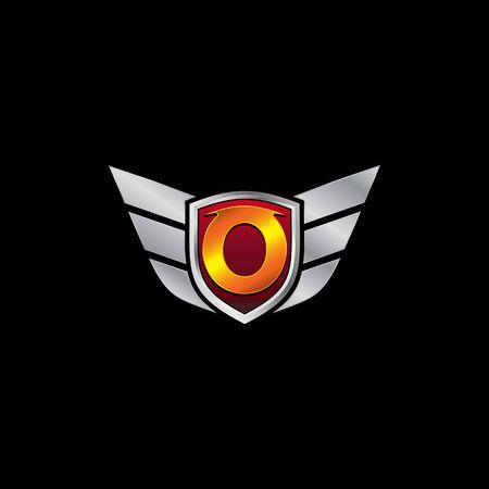 Auto Guard Letter O Icon  design concept template