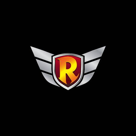 Auto Guard Letter R Icon  design concept template
