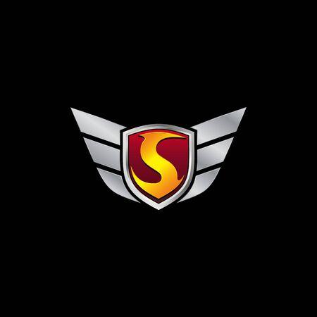 Auto Guard Letter S Icon  design concept template Ilustrace