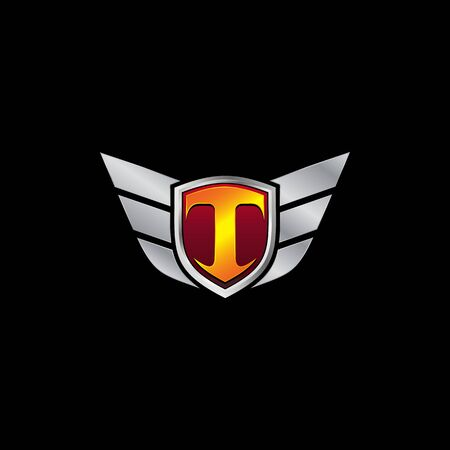 Auto Guard Letter T Icon  design concept template