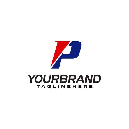 unique  that forms the letter P matches your company.  inspiration P Ilustrace