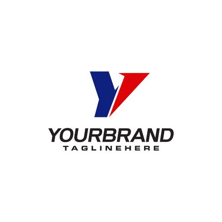 unique  that forms the letter Y matches your company.  inspiration Y Ilustrace