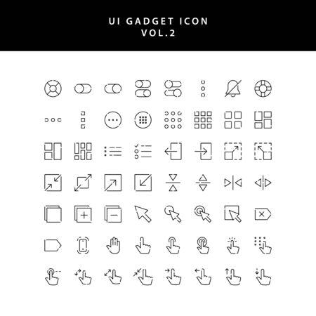 ui gadget icon set vol 2  イラスト・ベクター素材