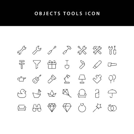 object tool line style icon set