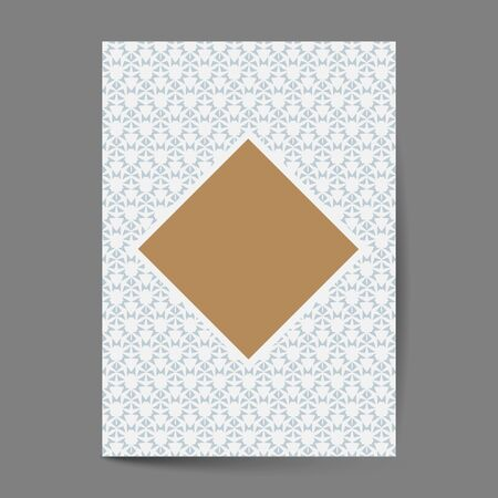 Luxury cover page design with pattern background, antique greeting card, ornate page cover, ornamental pattern template for design